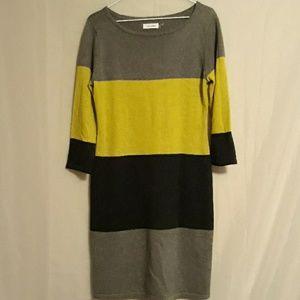 Calvin Klein Dress M Sweater Sheath